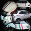 Italian flag vinyl adhesive band for car and motorbike in 5 sizes