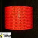 Nastro adesivo retroriflettente rifrangente segnalazione rosso 50mm classe 2