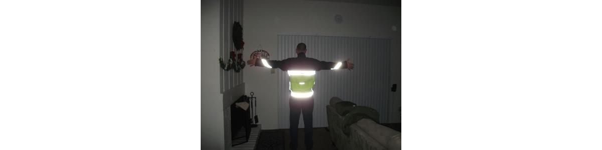 heißsiegelbare Band reflektierendes / fluoreszierend