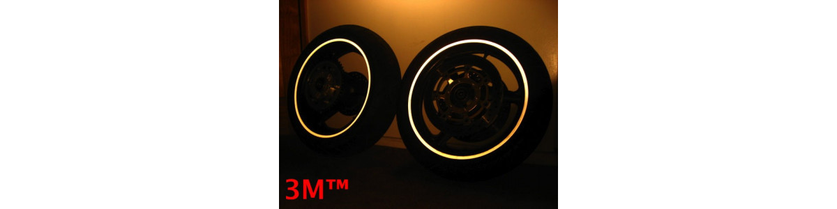 3M™ Pegatinas adhesivas reflectantes y fluorescentes