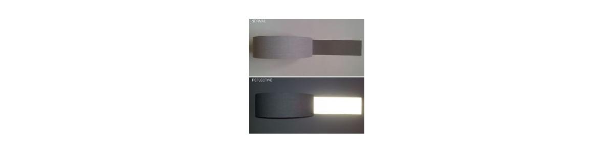 Banda reflectante en coser telas