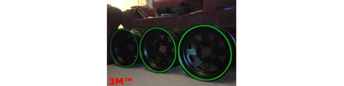Tiras adhesivas 3M™ círculos fluorescentes